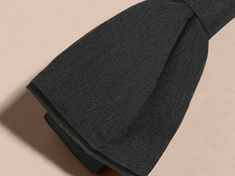 Silk Bow Tie in Black | Burberry - cell image 1