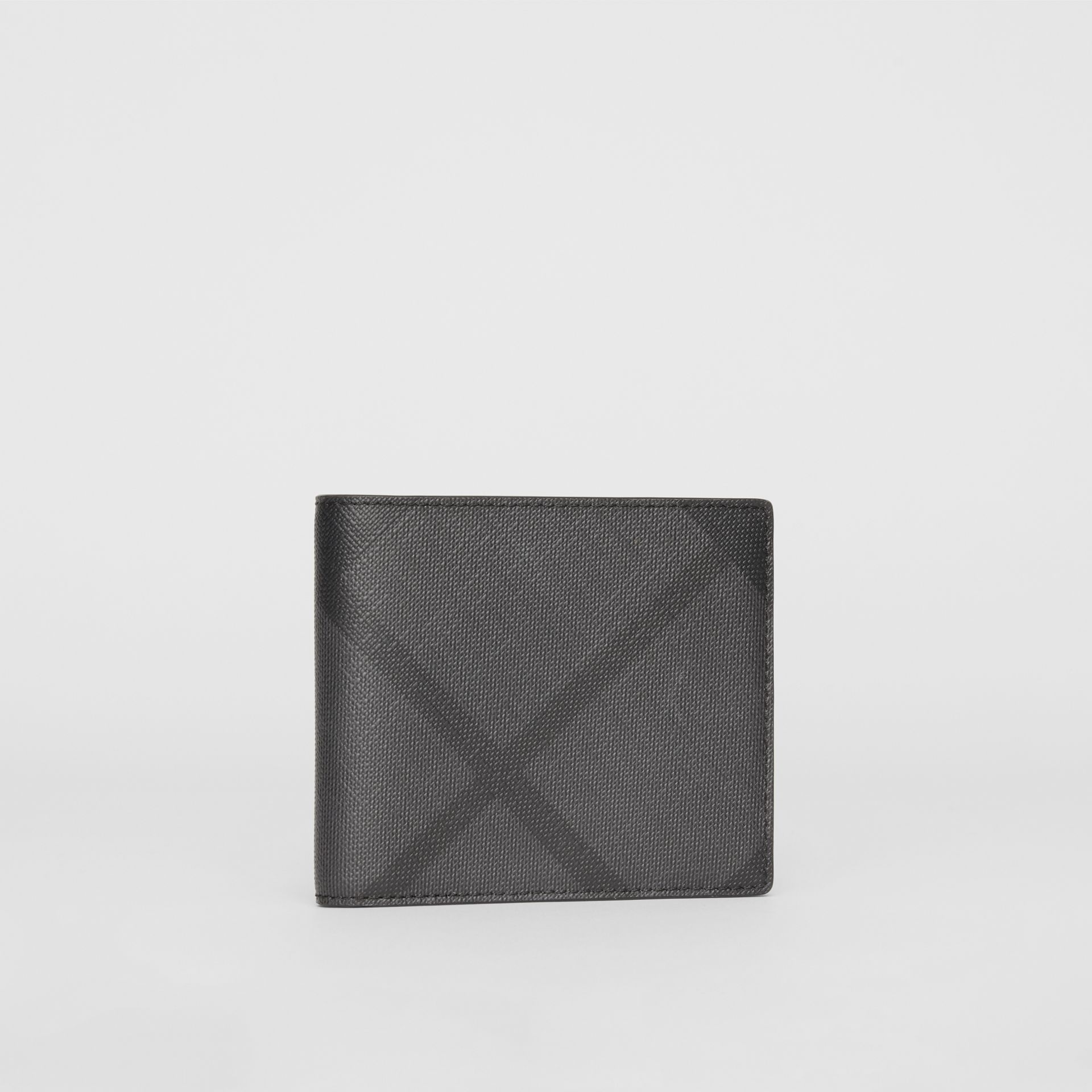 London Check ID Wallet in Charcoal/black - Men | Burberry - gallery image 4