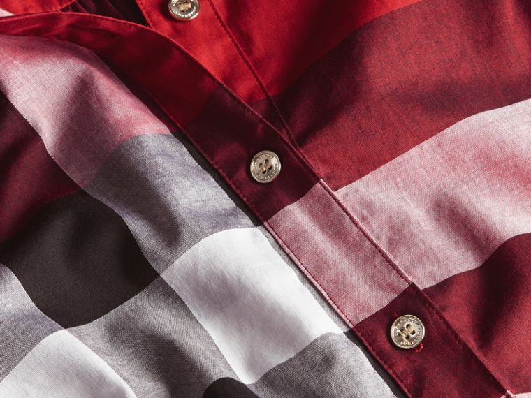 Parade red Check Cotton Shirt Dress Parade Red - cell image 1