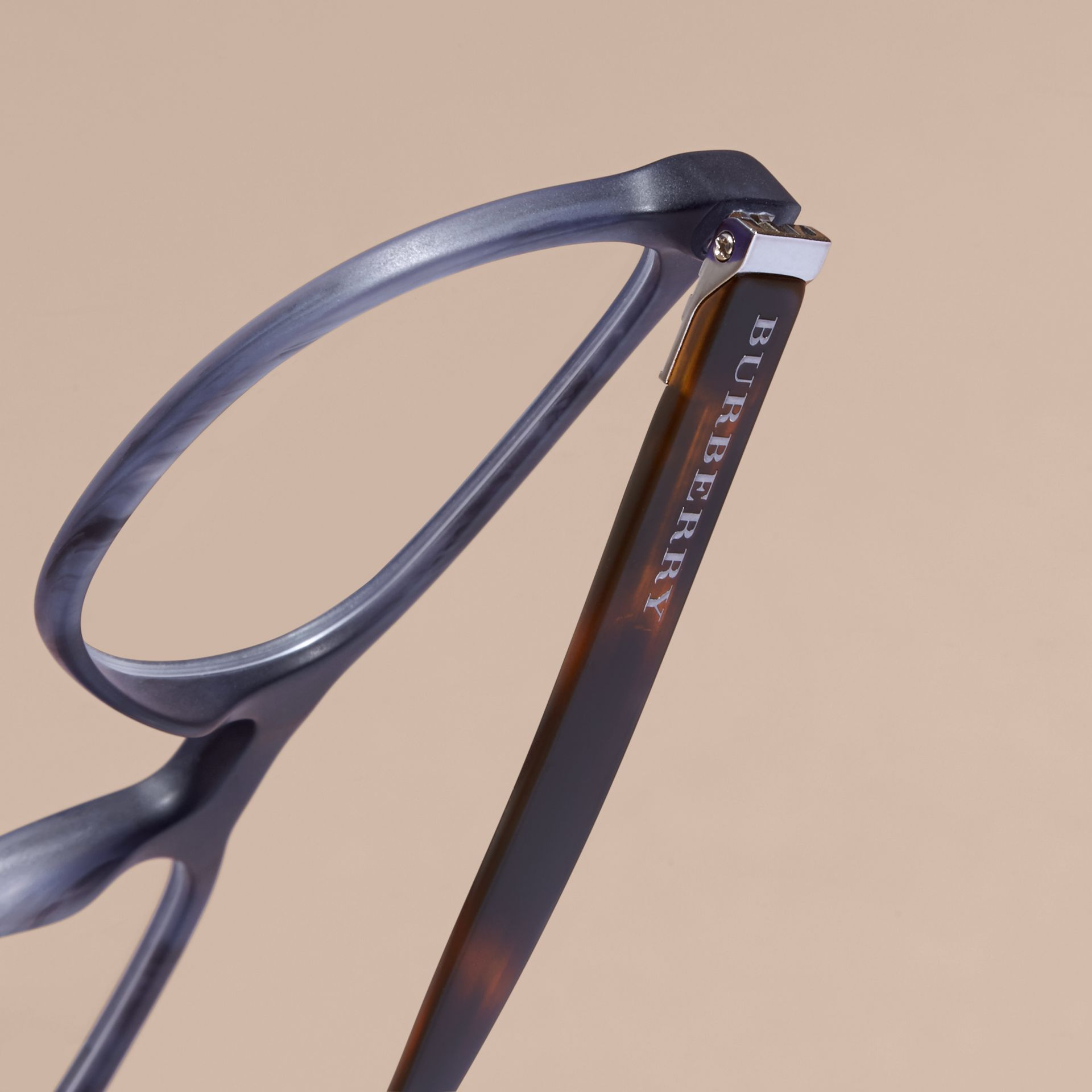Square Optical Frames Deep Blue - gallery image 2
