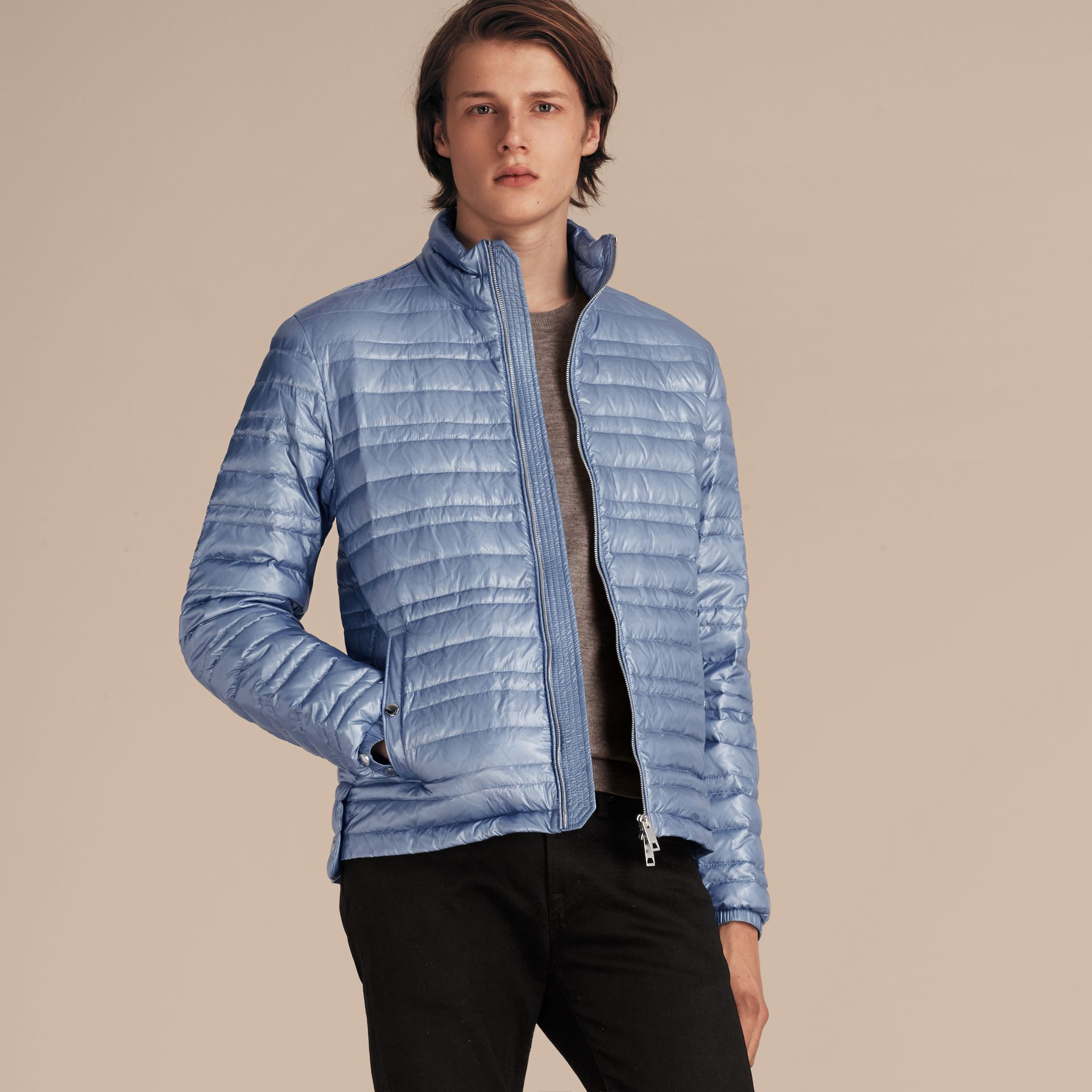 Pale blue Lightweight Down-filled Jacket Pale Blue - gallery image 6