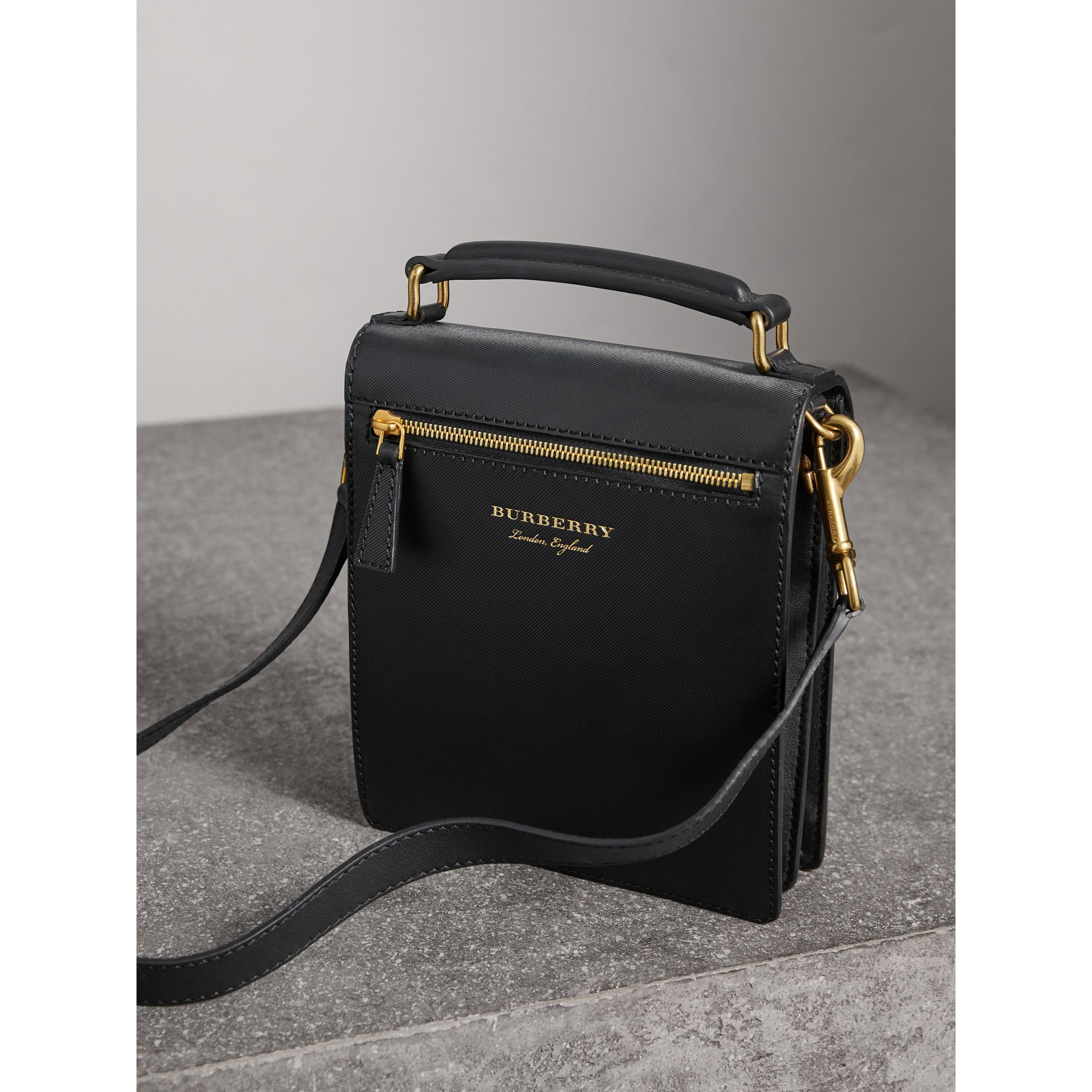The Small DK88 Satchel in Black - Men | Burberry - gallery image 5