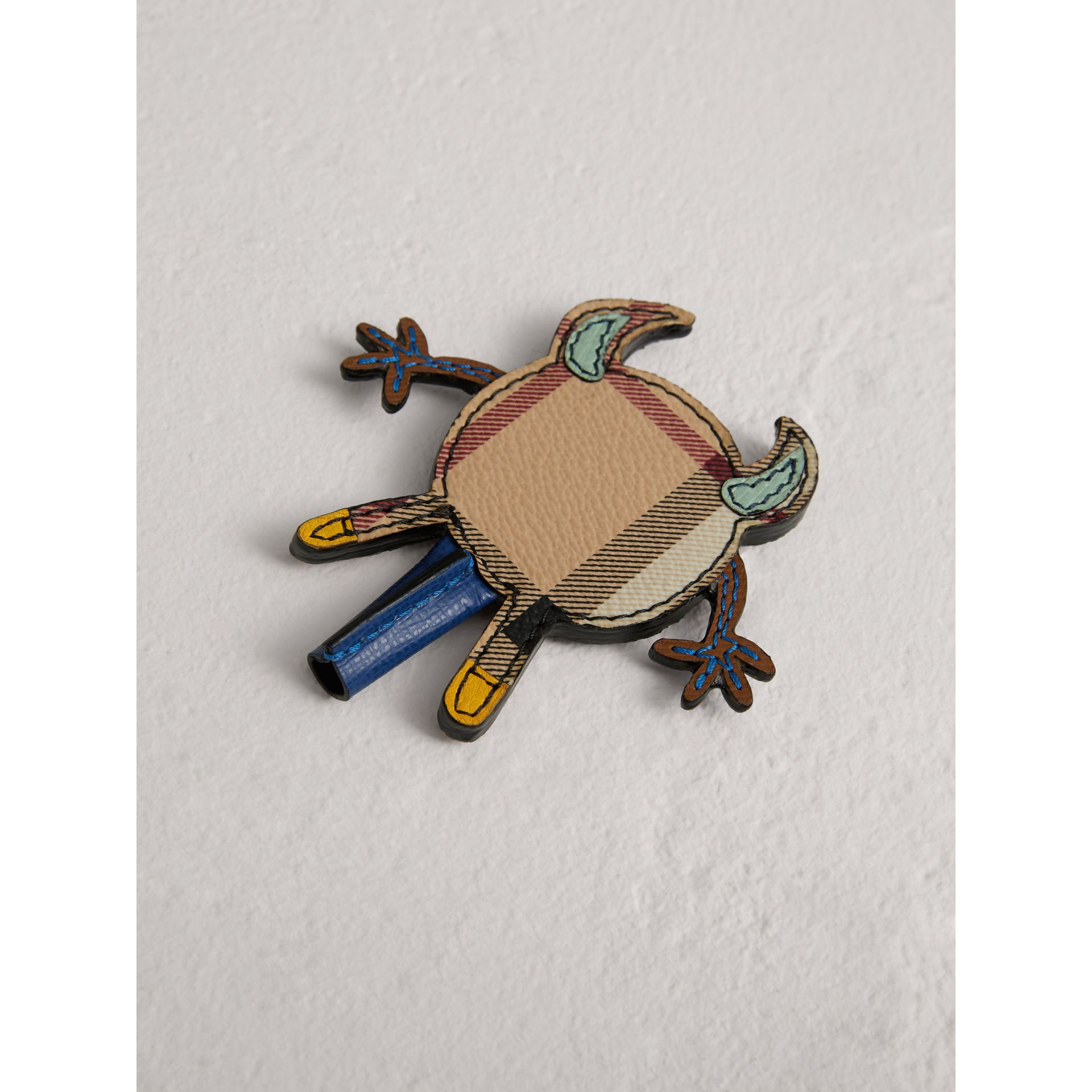 Creature Appliqué Leather Trim Pencil Topper in Light Mint | Burberry - gallery image 3