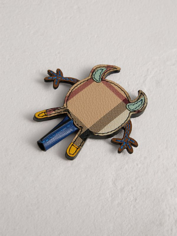 Creature Appliqué Leather Trim Pencil Topper in Multicolour | Burberry - cell image 2