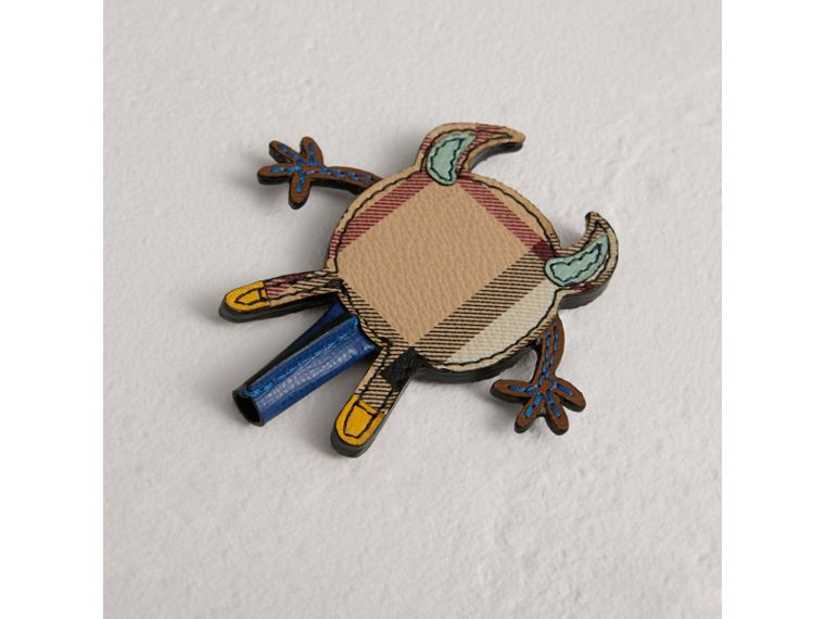 Creature Appliqué Leather Trim Pencil Topper in Light Mint | Burberry - cell image 2