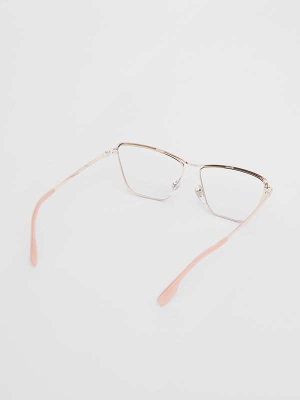 Rectangular Optical Frames in Rose Gold - Women | Burberry - cell image 3