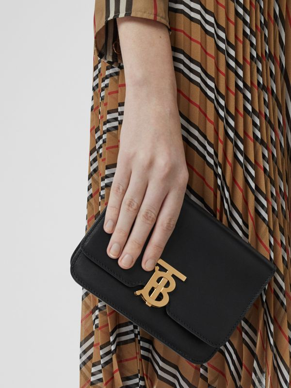 Belted Leather TB Bag in Black - Women | Burberry - cell image 2