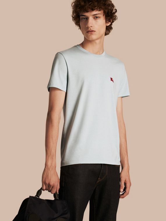 Liquid-soft Cotton T-Shirt Pale Opal Blue
