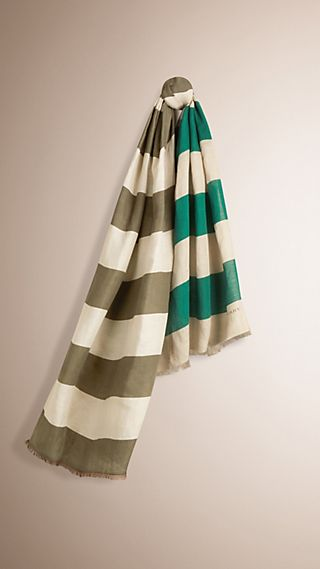 Striped Modal Linen Scarf