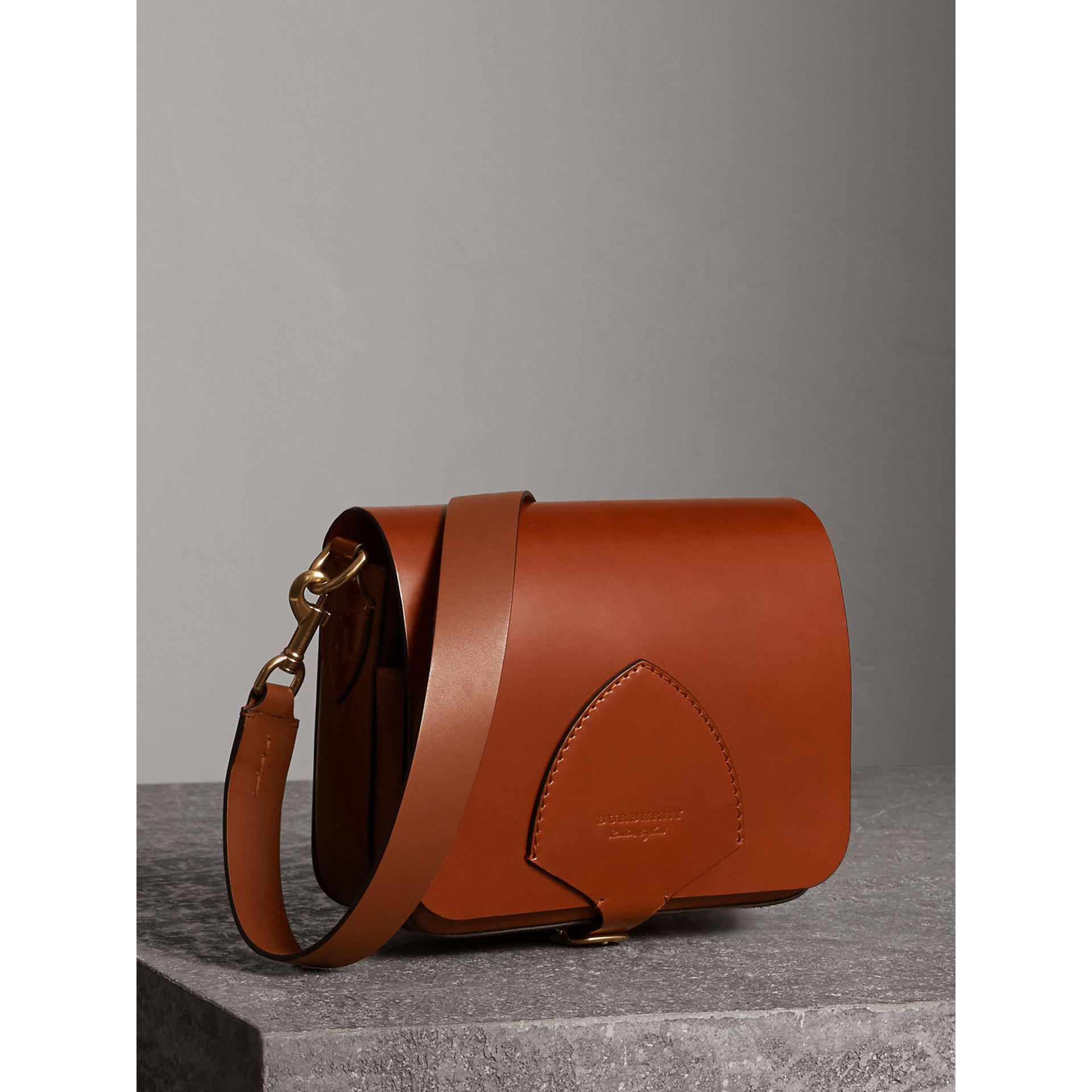 The Square Satchel in Bridle Leather in Tan - Women | Burberry - gallery image 7
