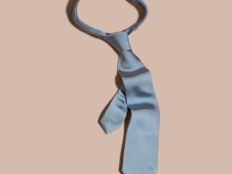 Bleu ciel Cravate moderne en sergé de soie Bleu Ciel - cell image 2