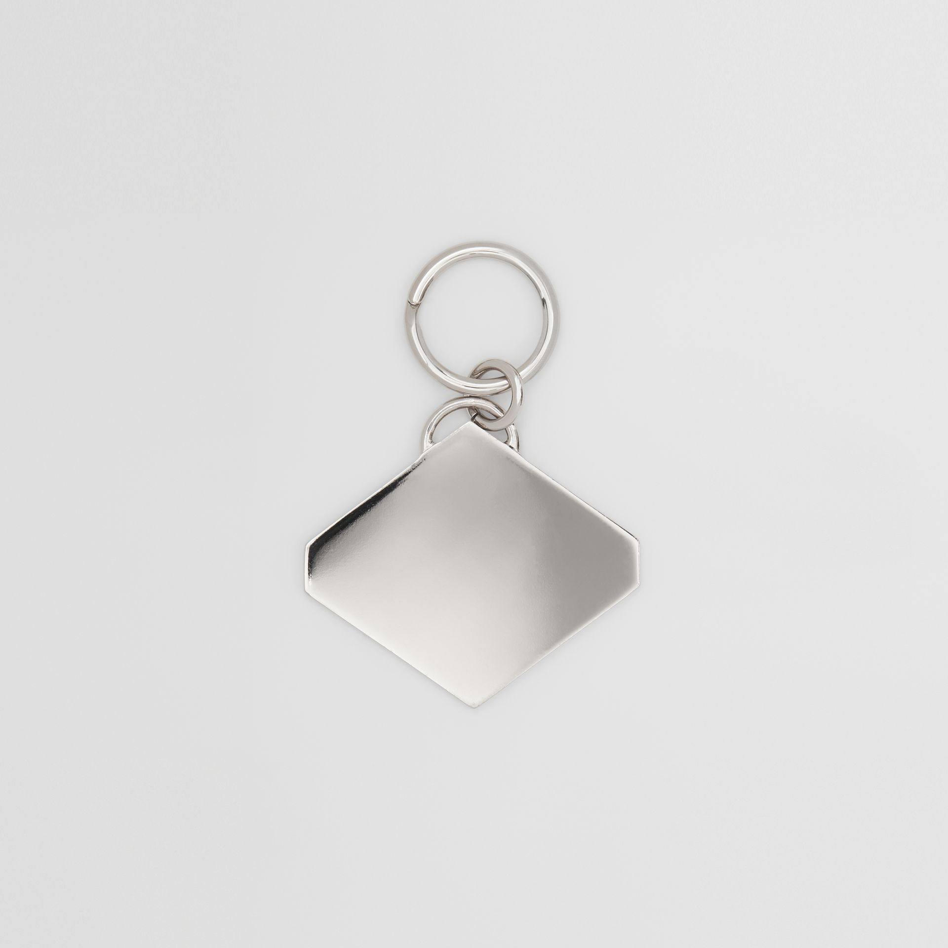 Logo Graphic Palladium-Plated Key Ring in Multicolour - Men | Burberry - gallery image 2
