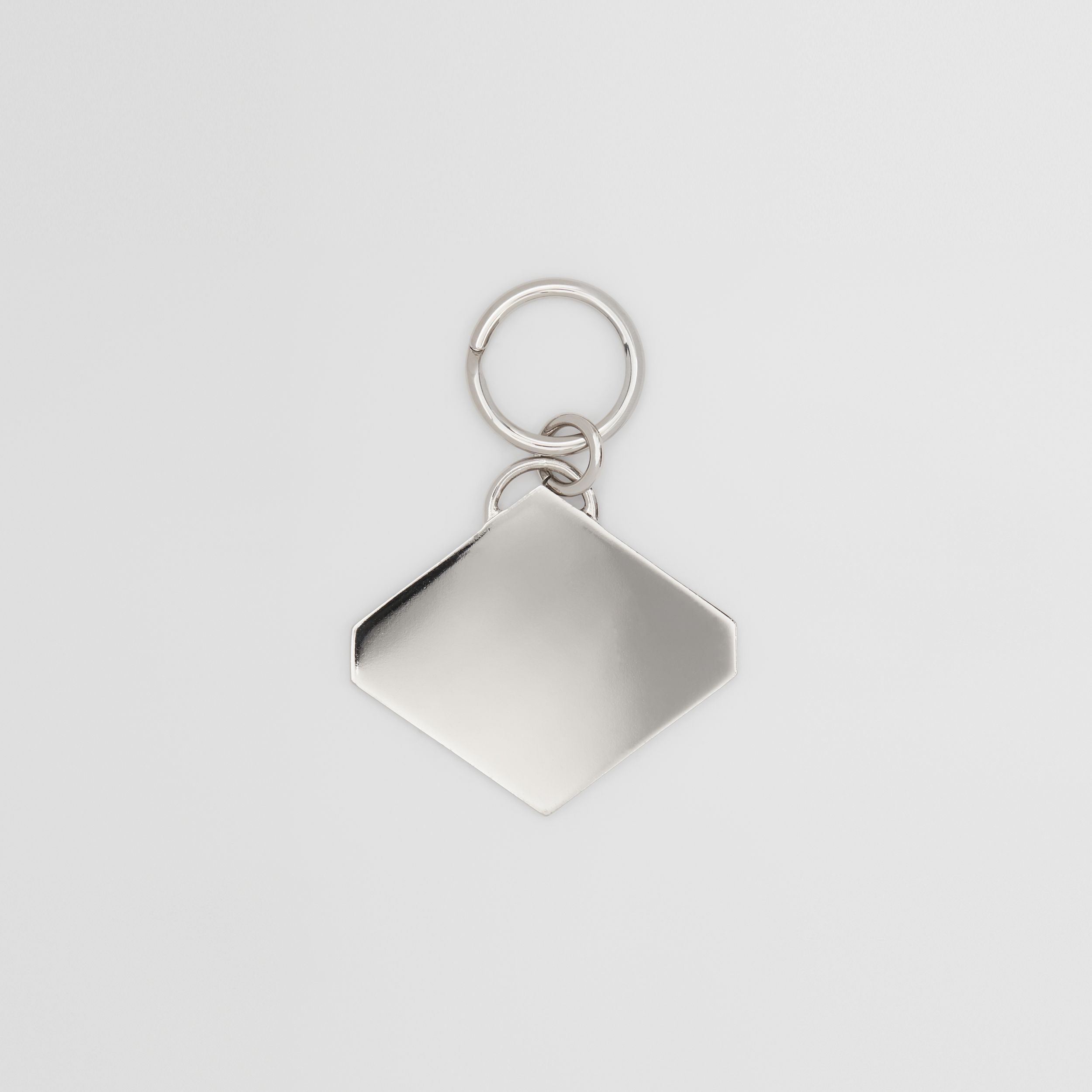 Logo Graphic Palladium-Plated Key Ring in Multicolour - Men | Burberry United Kingdom - 3