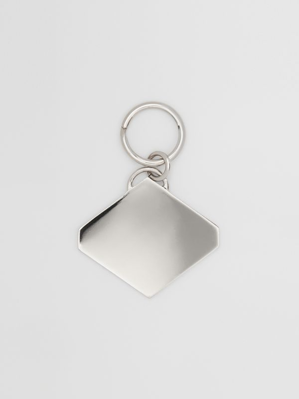 Logo Graphic Palladium-Plated Key Ring in Multicolour - Men | Burberry - cell image 2