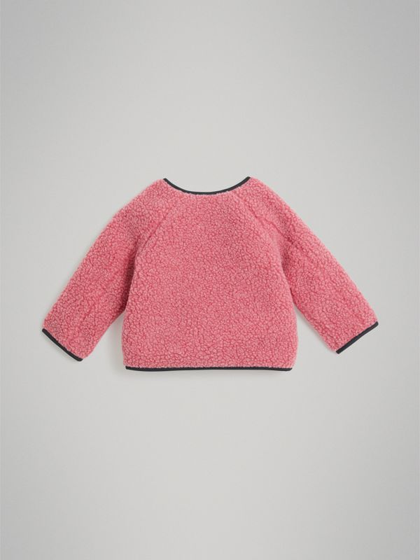 Faux Shearling Jacket in Rosewood - Children | Burberry - cell image 3