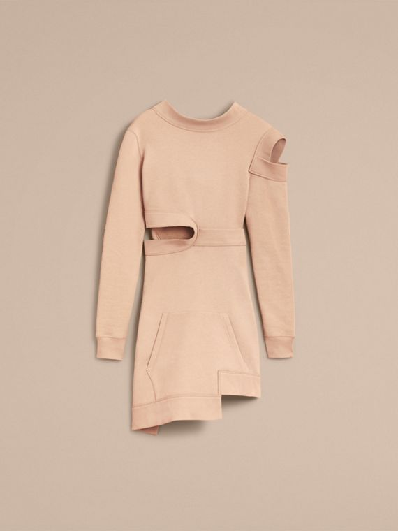 Cut-out Sweatshirt Dress in Biscuit - Women | Burberry - cell image 3