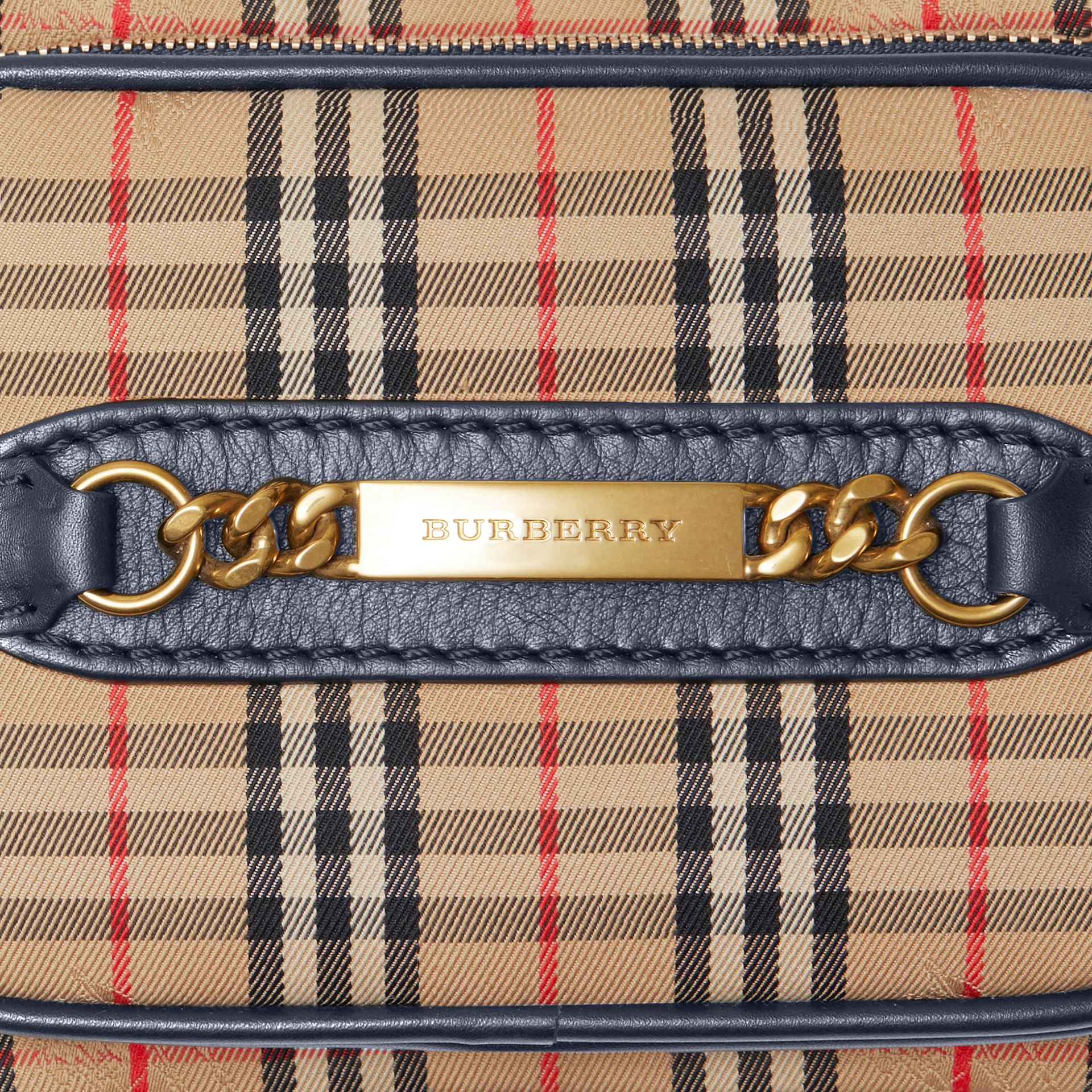 The 1983 Check Link Camera Bag in Ink Blue | Burberry - gallery image 1