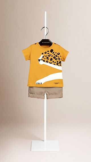 Cheetah Graphic Cotton T-shirt