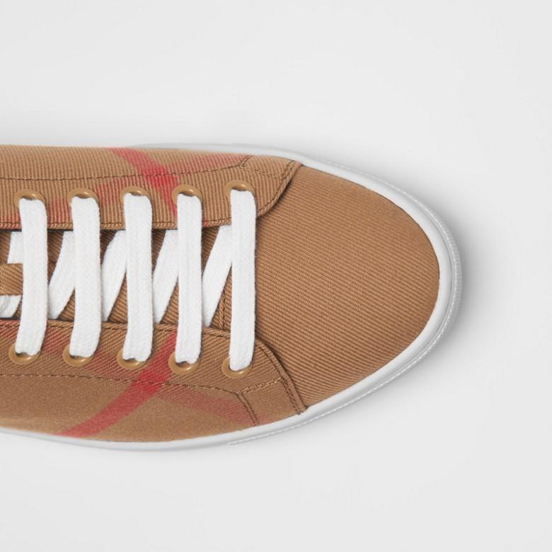 Burberry - Sneakers en coton House check et cuir - 2