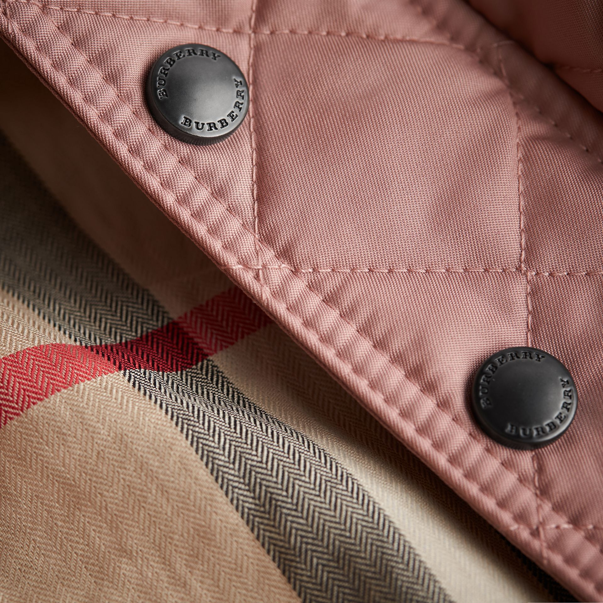 Detachable Hood Quilted Jacket in Pale Rose | Burberry - gallery image 2