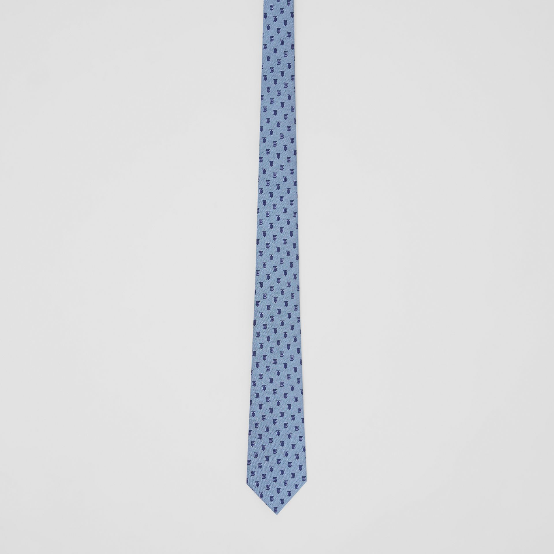 Classic Cut Monogram Silk Jacquard Tie in Pale Blue - Men | Burberry - gallery image 3