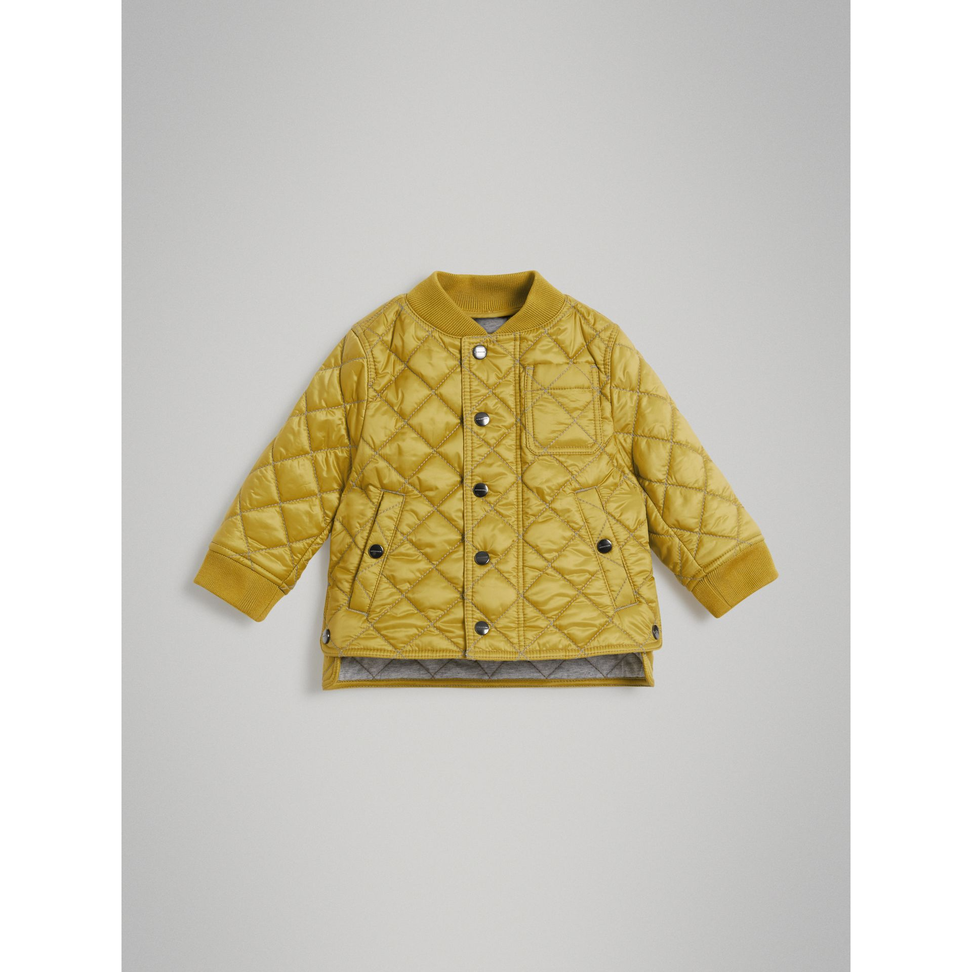 Lightweight Diamond Quilted Jacket in Saffron Yellow - Children | Burberry - gallery image 0