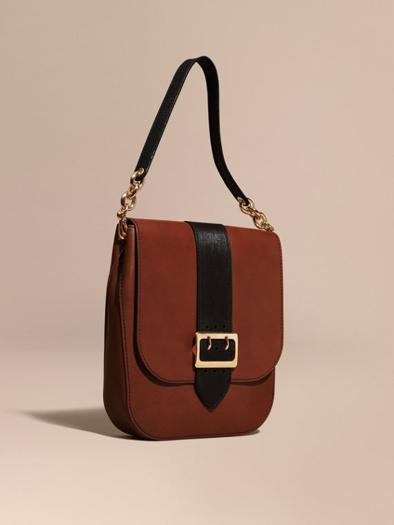 Sac cartable The Buckle en cuir lisse