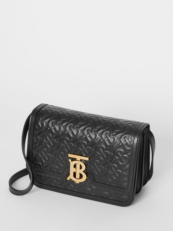Small Monogram Leather TB Bag in Black - Women | Burberry United Kingdom - cell image 3