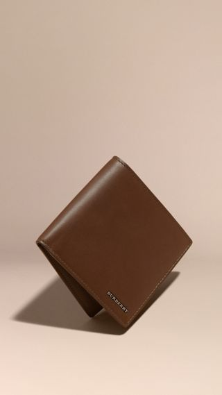Smooth Leather Folding Wallet