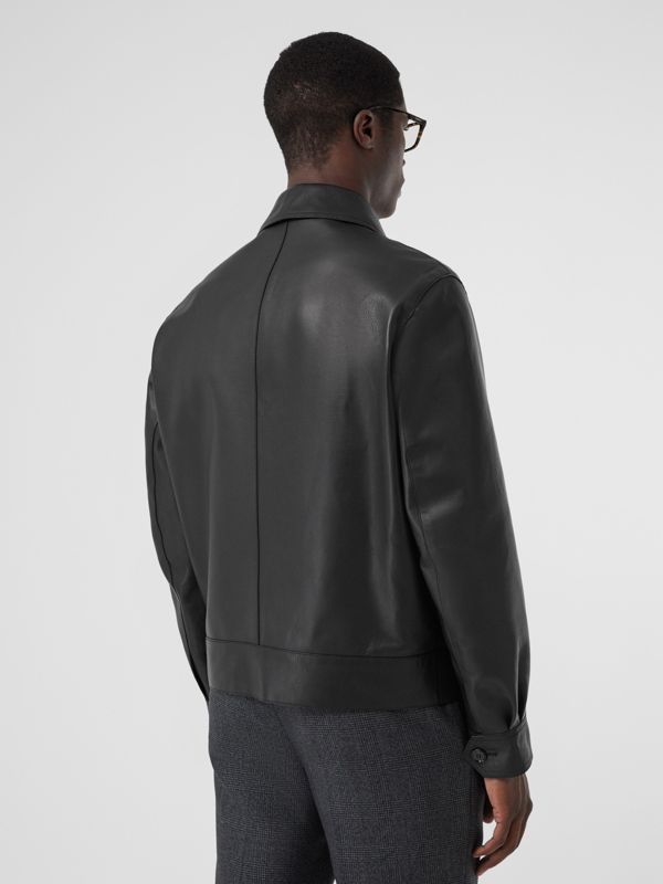 Leather Jacket in Black - Men | Burberry - cell image 2