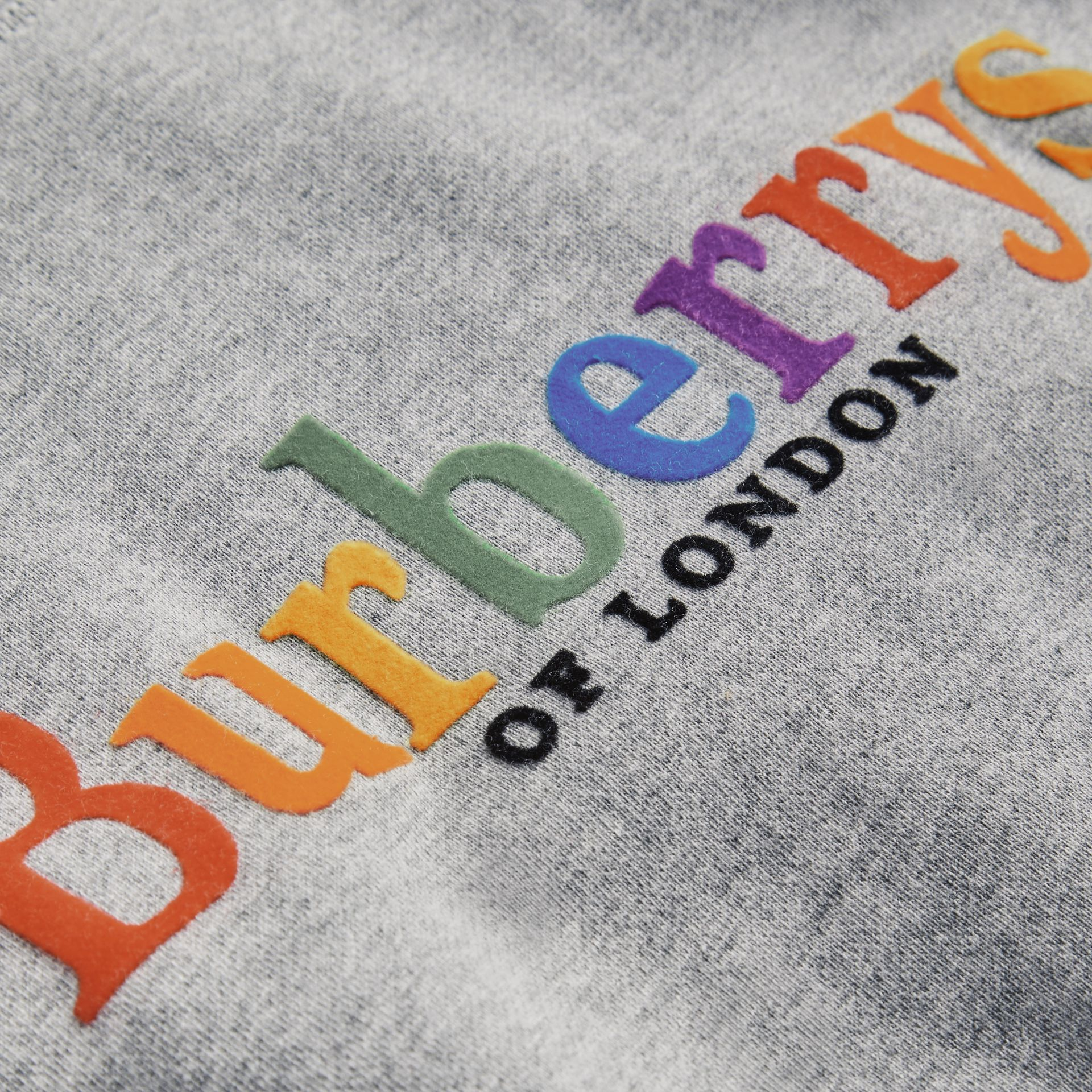Archive Logo Cotton Jersey Sweatshirt in Grey Melange | Burberry - gallery image 1