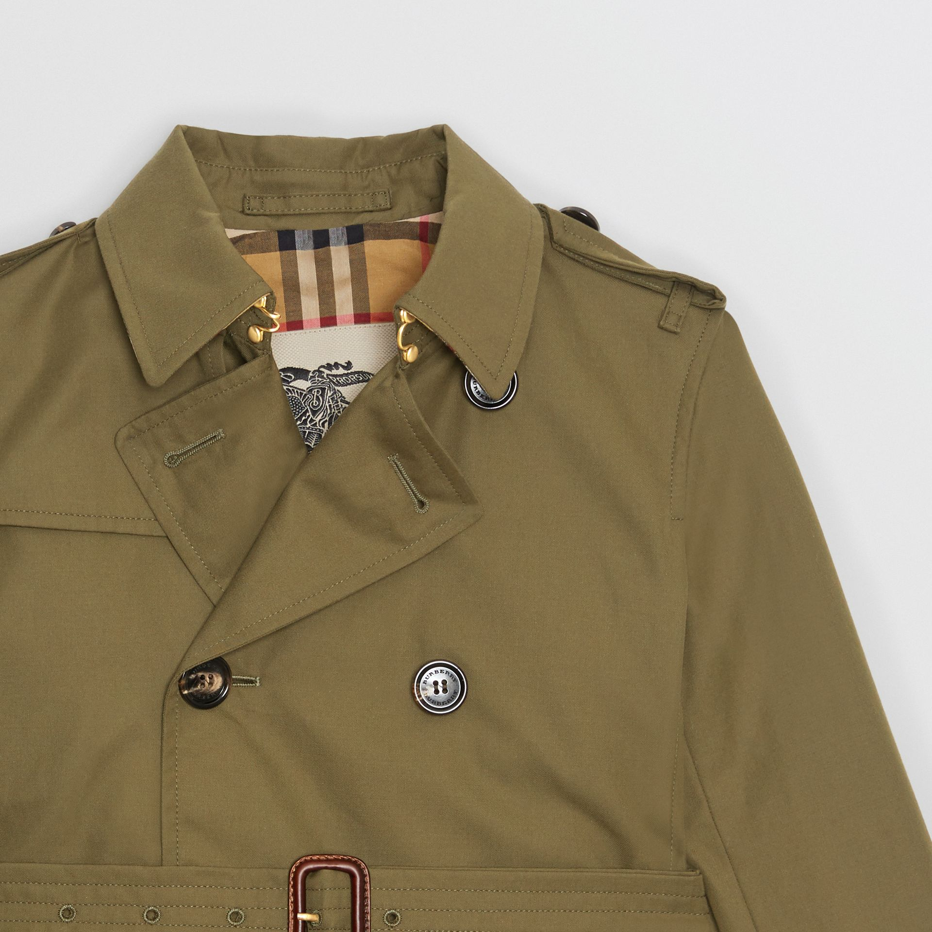 Cotton Gabardine Trench Coat in Military Olive | Burberry - gallery image 5
