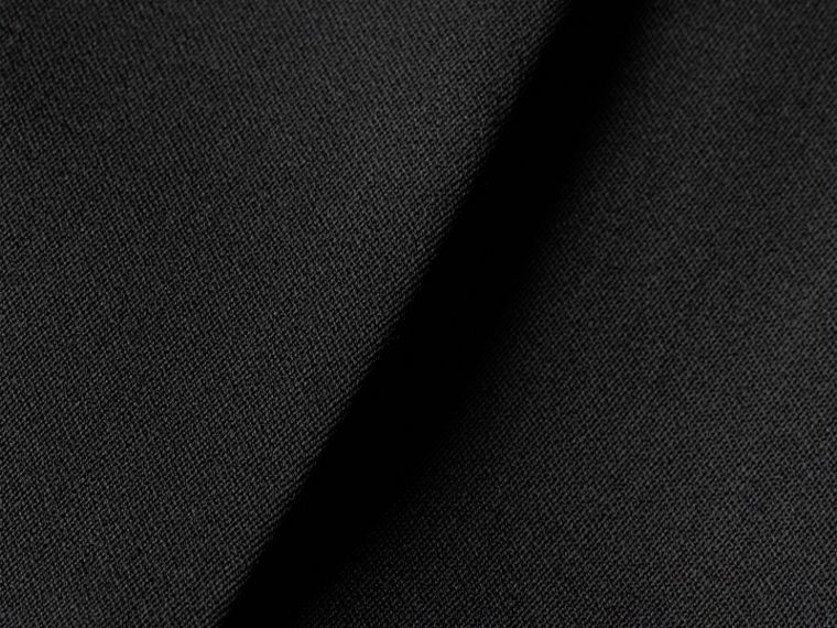 Nero Gonna a tubo sartoriale in lana vergine stretch Nero - cell image 1