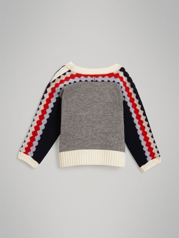 Monster Cashmere Jacquard Sweater in Bright Red - Children | Burberry - cell image 3