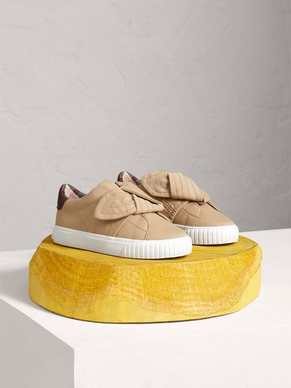 Trench Knot Gabardine Trainers in Honey
