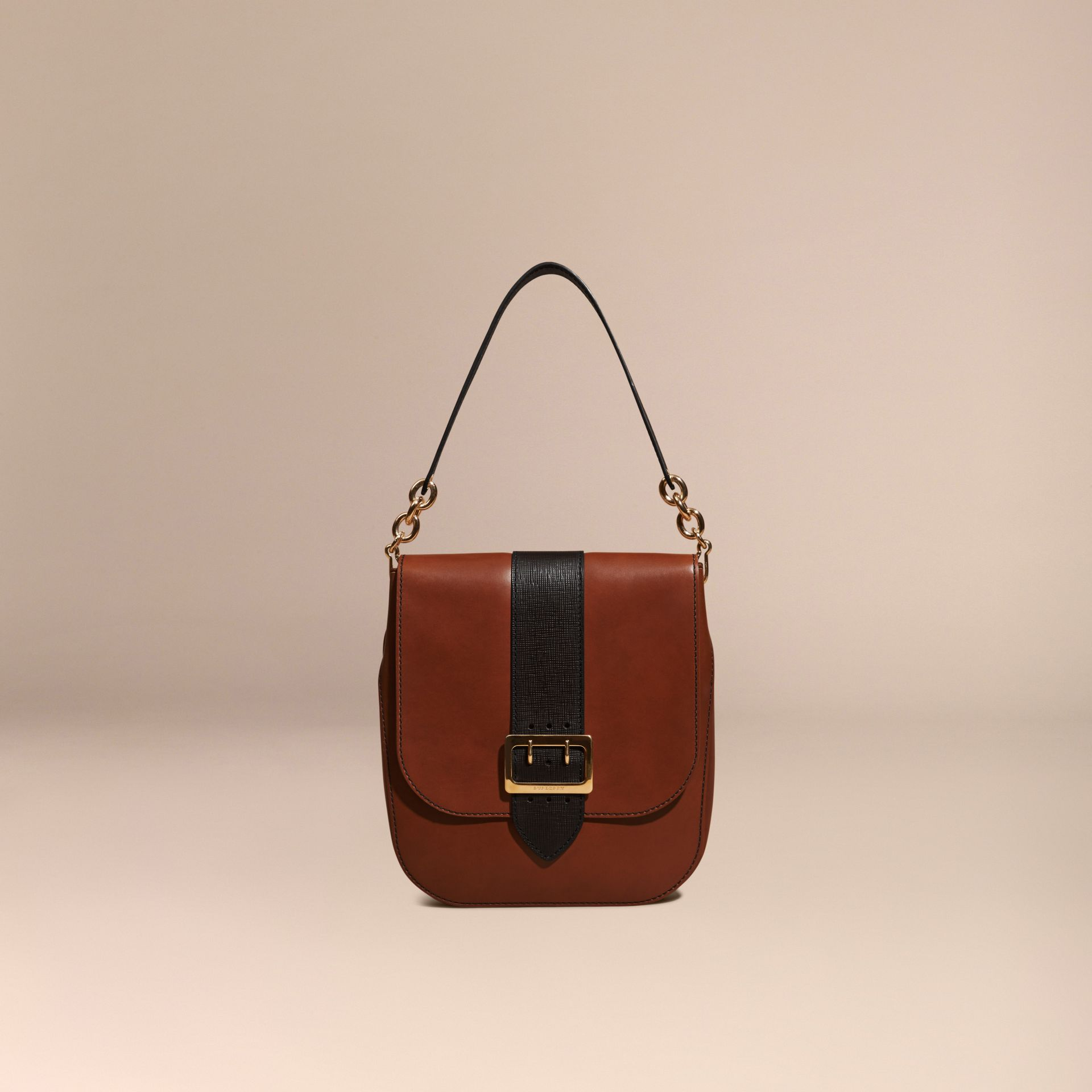 Tan The Buckle Satchel in Smooth Leather - gallery image 8