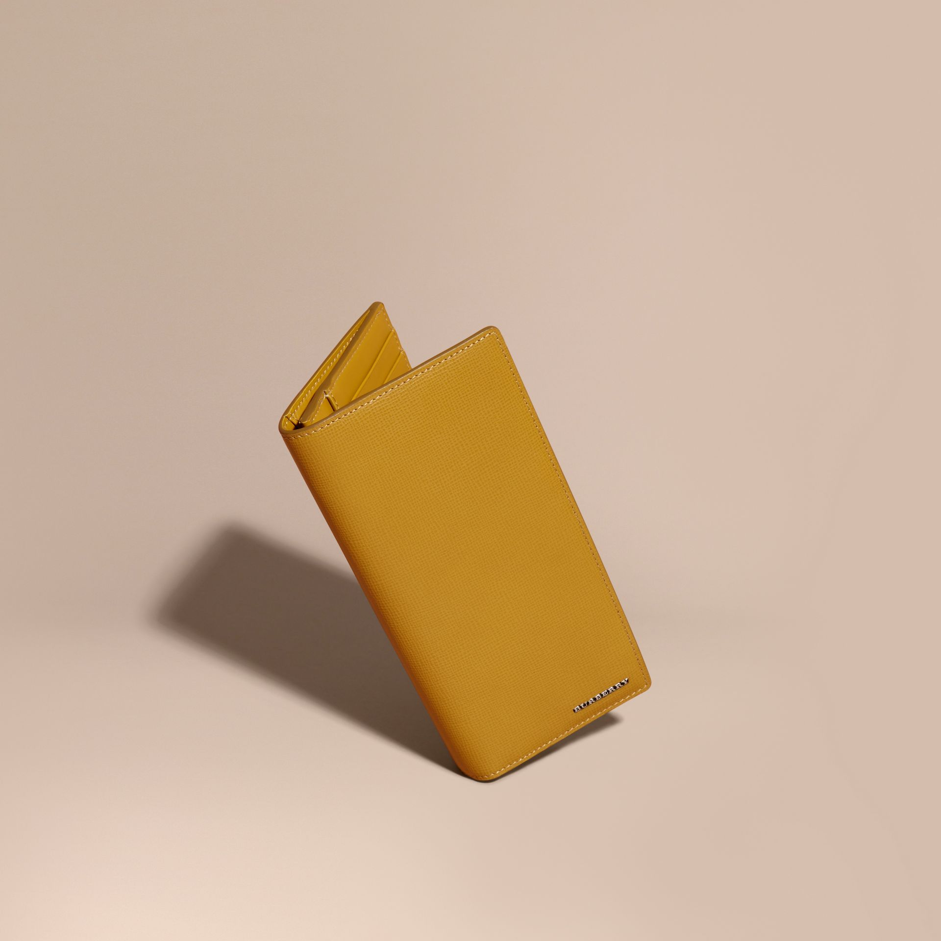 London Leather Continental Wallet in Larch Yellow - gallery image 1