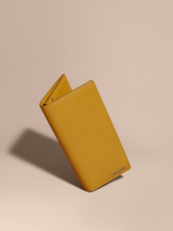 London Leather Continental Wallet Larch Yellow
