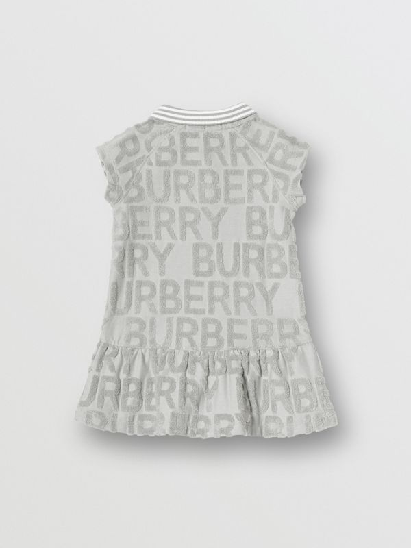 Logo Towelling Polo Dress in Pale Grey - Children | Burberry United Kingdom - cell image 3