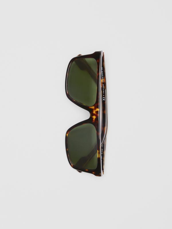 Straight-brow Sunglasses in Tortoise Shell - Men | Burberry Australia - cell image 3