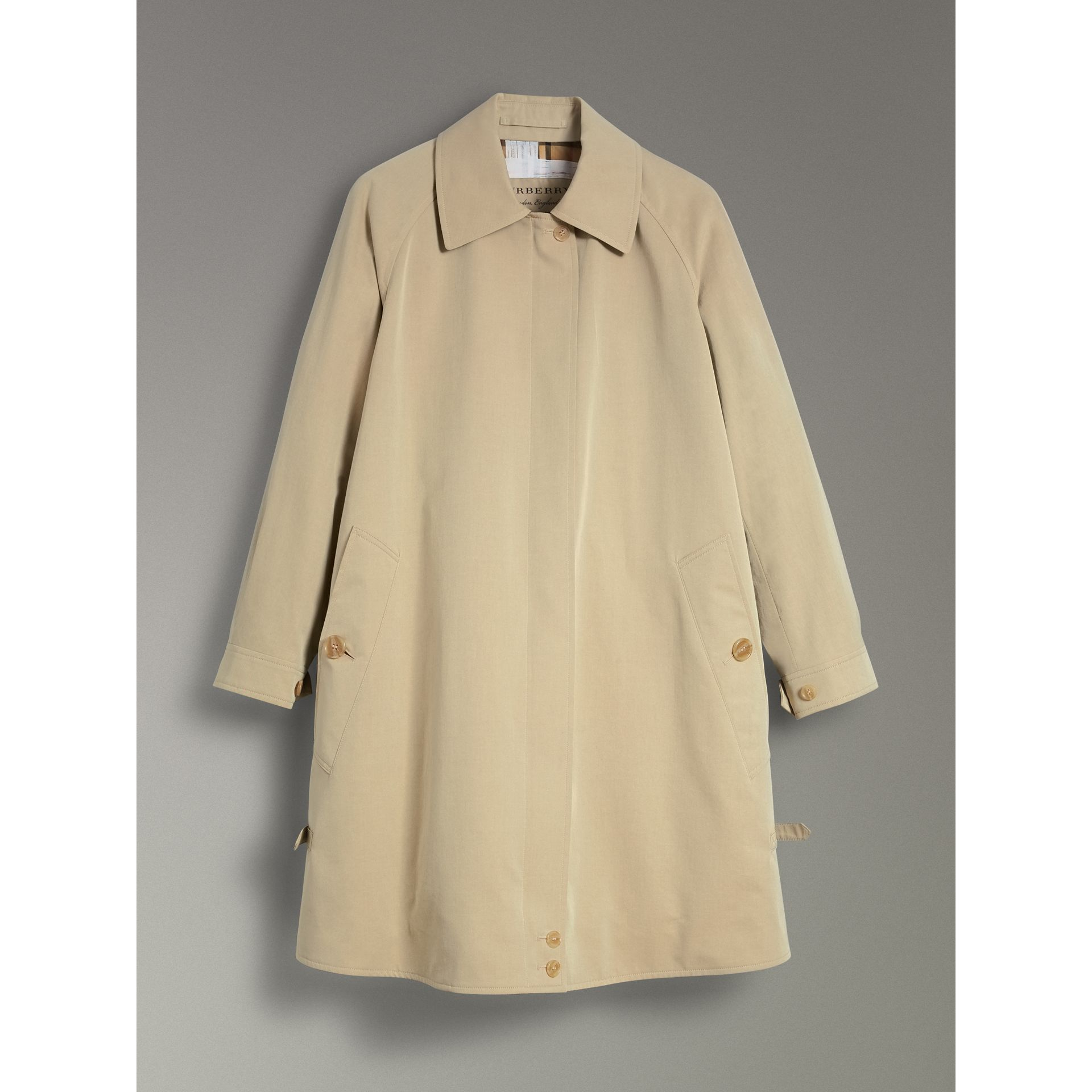 Tropical Gabardine Car Coat in Oatmeal - Women | Burberry United States - gallery image 3