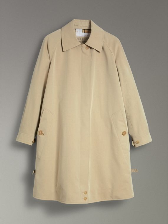 Tropical Gabardine Car Coat in Oatmeal - Women | Burberry - cell image 3