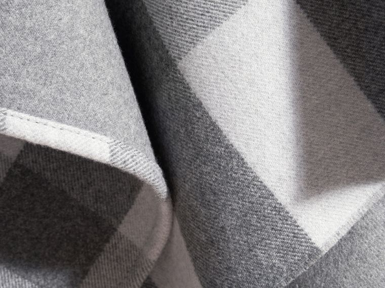Pale grey Check Wool Cape - cell image 1