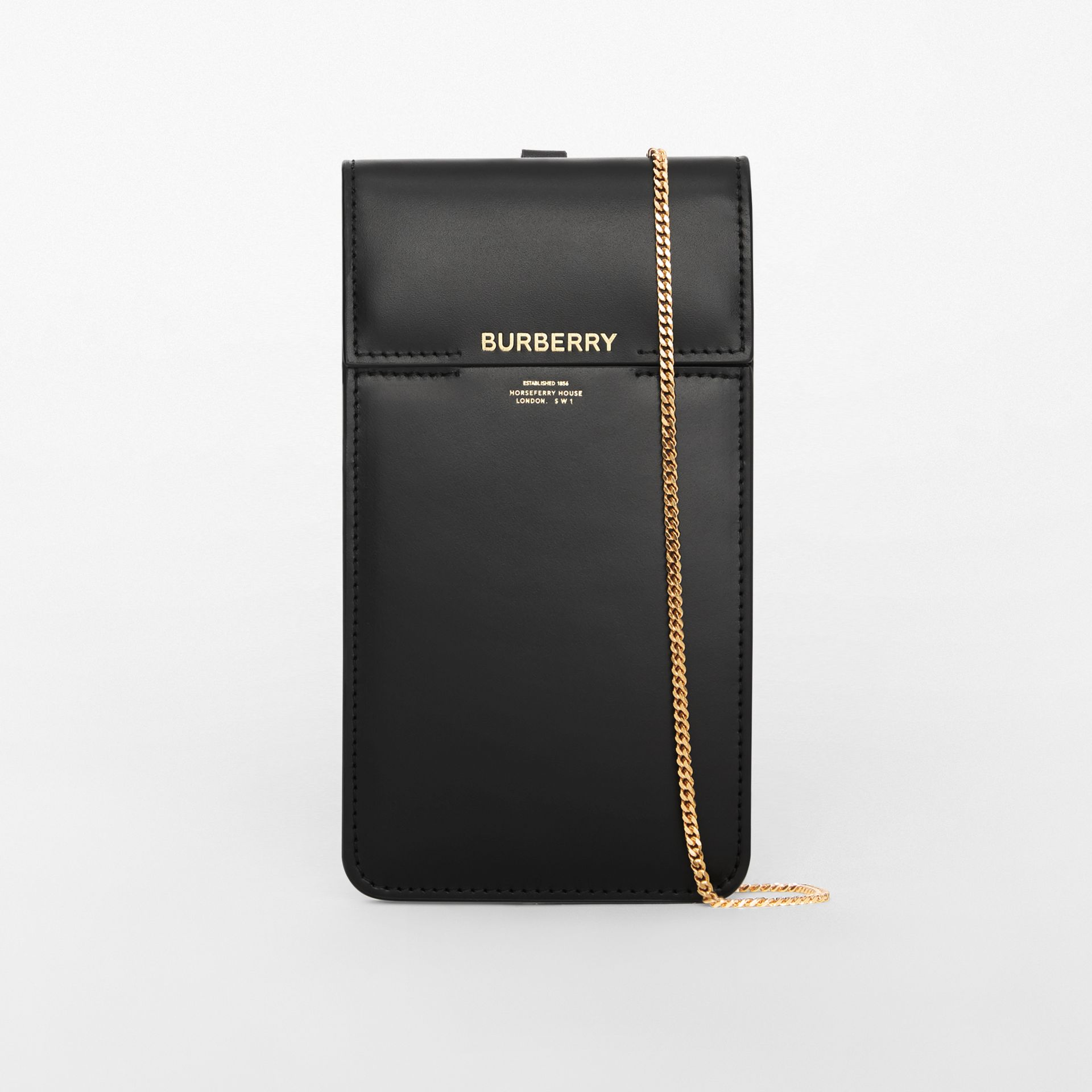 Horseferry Print Leather Phone Case Lanyard in Black - Women | Burberry - gallery image 2