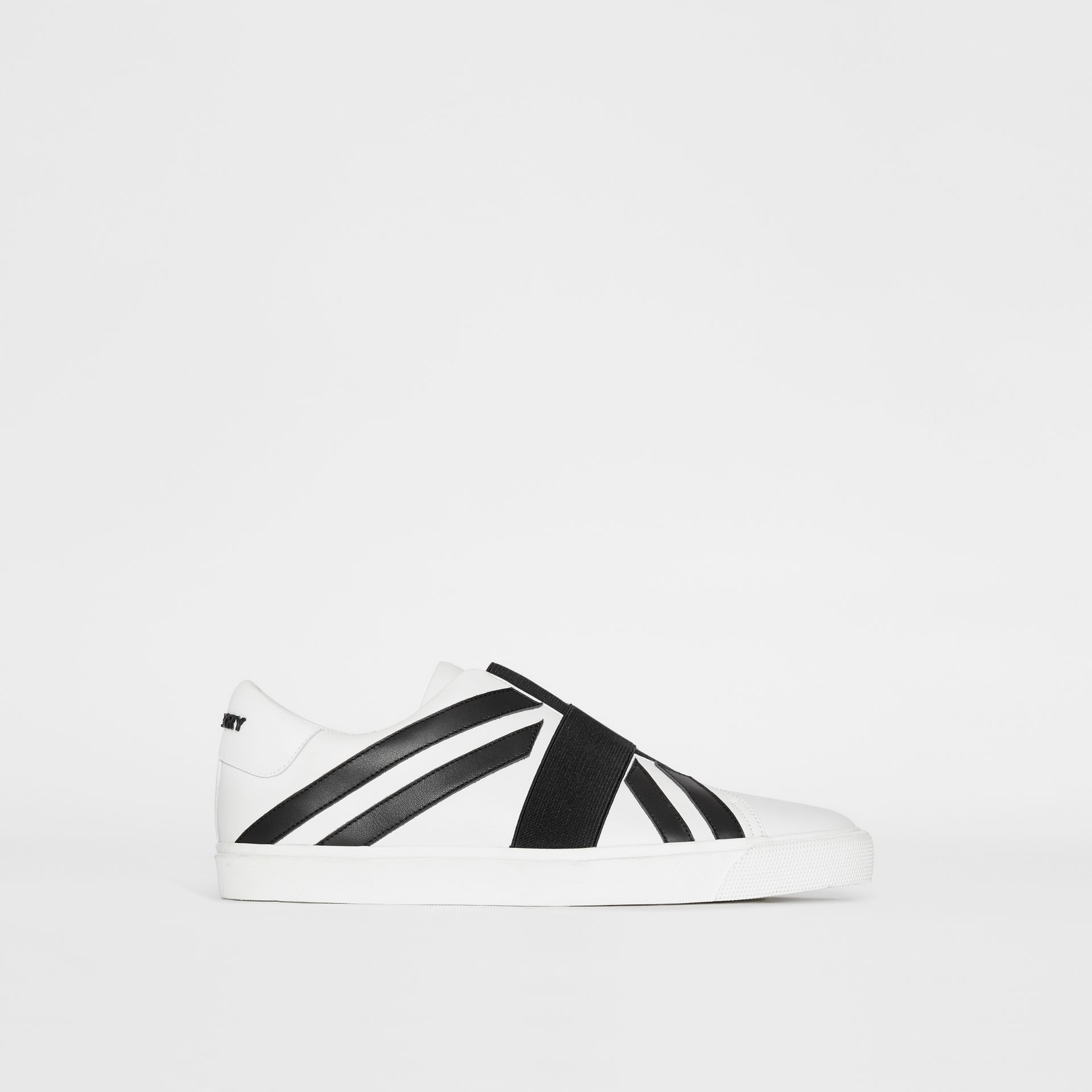 Union Jack Motif Slip-on Sneakers in White - Men | Burberry - gallery image 4
