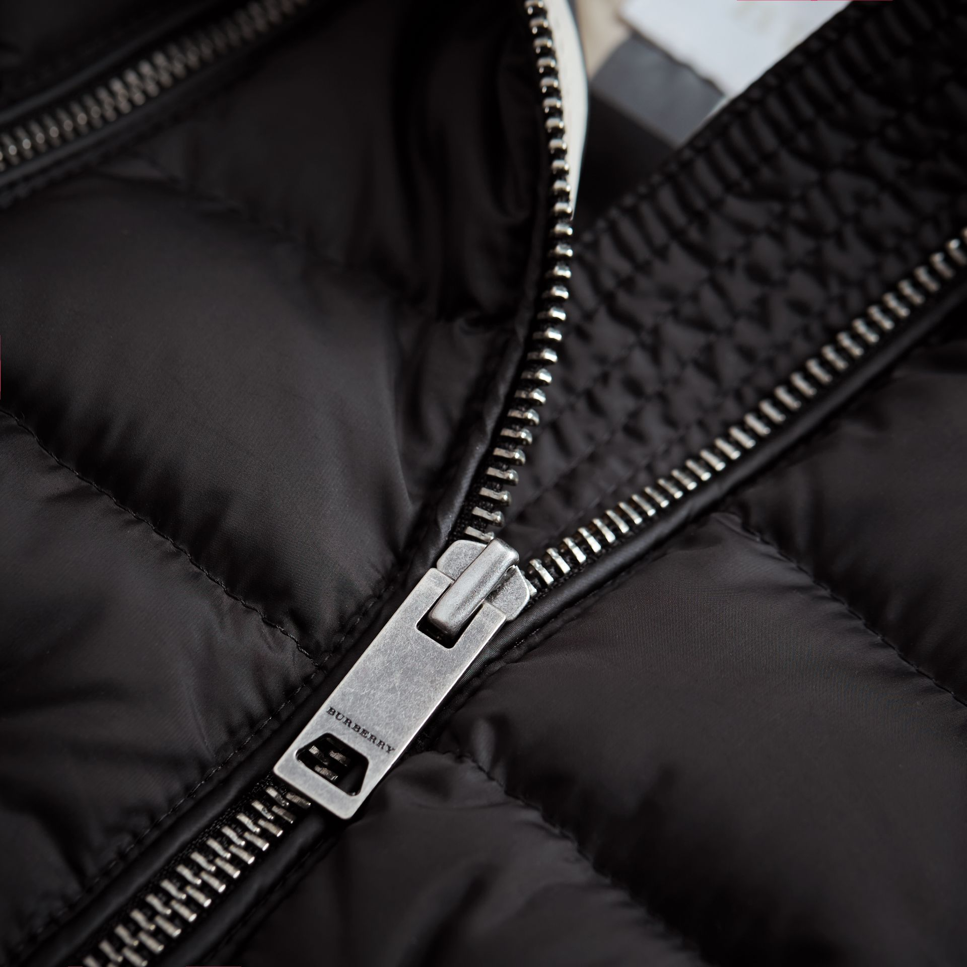 Detachable Hood Down-filled Gilet in Black - Girl | Burberry - gallery image 1
