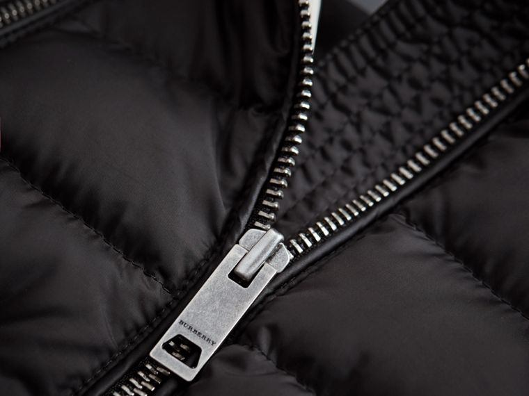 Detachable Hood Down-filled Gilet in Black - Girl | Burberry - cell image 1