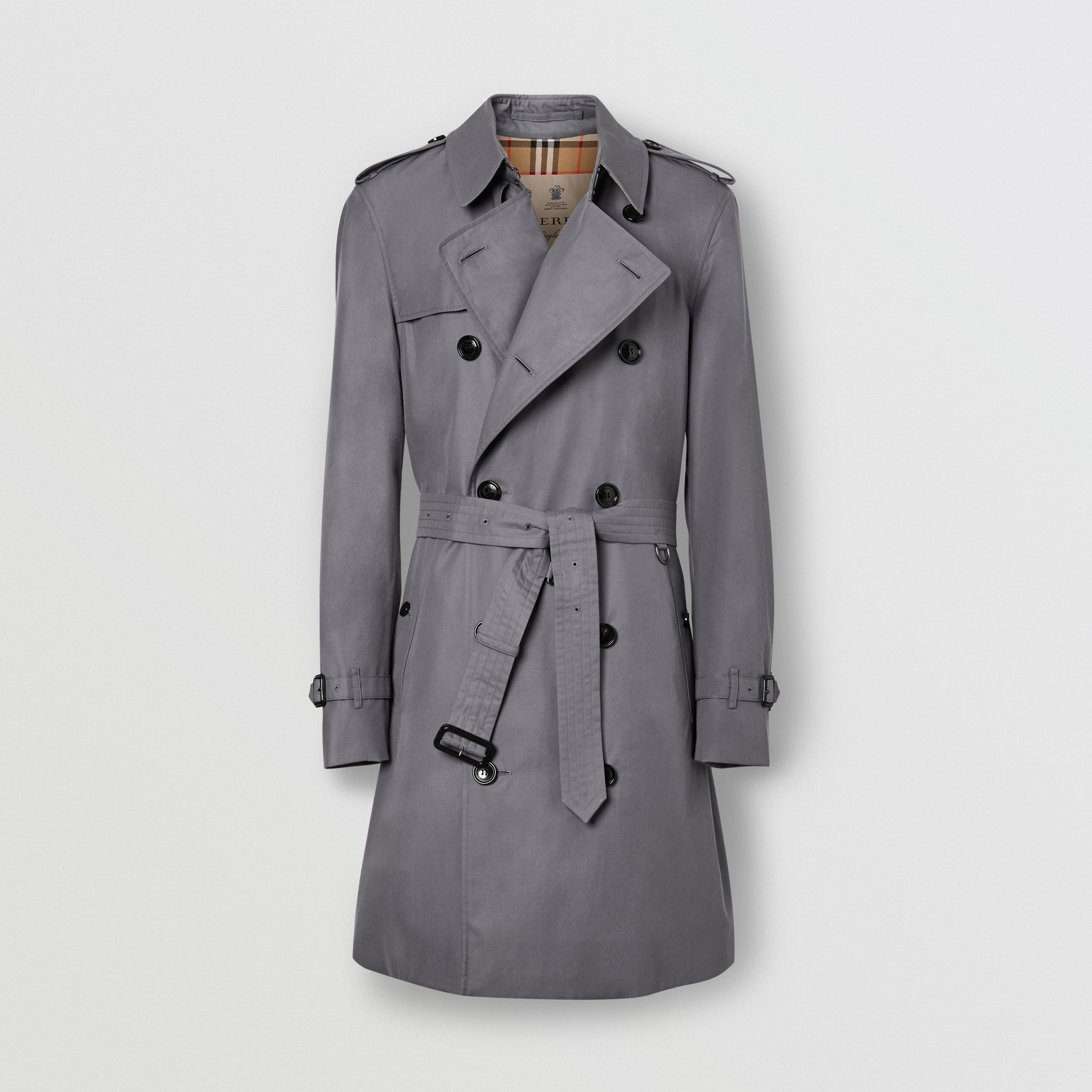 The Mid-length Chelsea Heritage Trench Coat in Mid-grey - Men | Burberry United Kingdom - 4