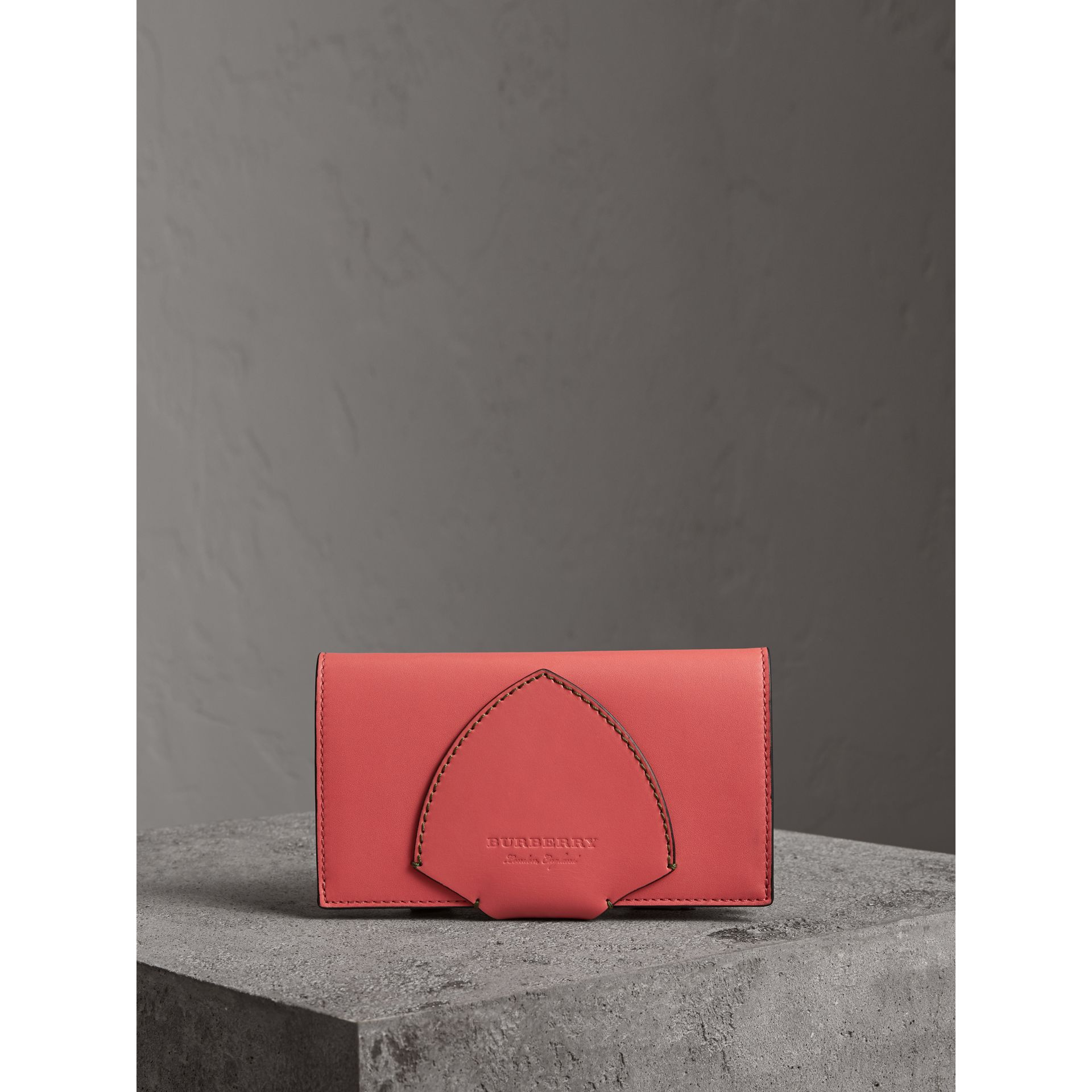Equestrian Shield Two-tone Leather Continental Wallet in Peony Pink - Women | Burberry United Kingdom - gallery image 4