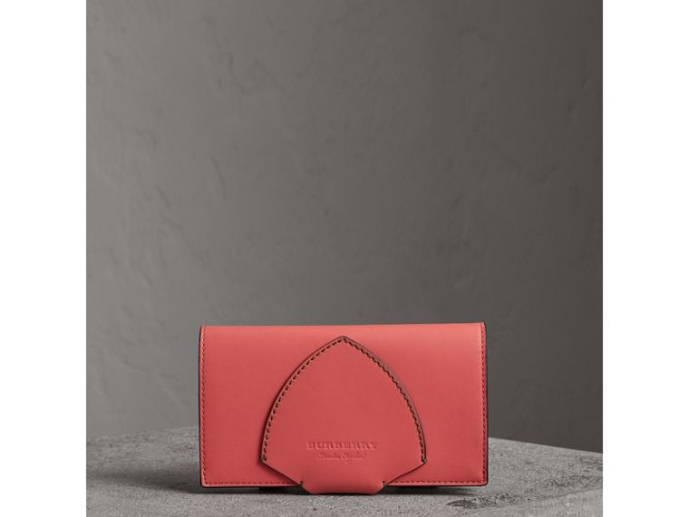 Equestrian Shield Two-tone Leather Continental Wallet in Peony Pink - Women | Burberry - cell image 4